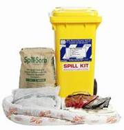 Fuel spill kit available at service stations.