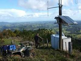 Telemetered rainfall station in Te Puhi River catchment, Far North.